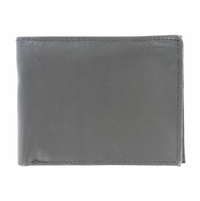 Y-67-Z Vintage Genuine Leather Bifold Wallet - Grey