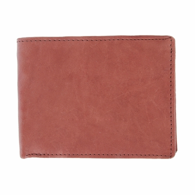Y-67-Z Vintage Genuine Leather Bifold Wallet - Light Burgundy