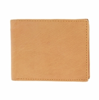 Y-67-Z Vintage Genuine Leather Bifold Wallet - Tan