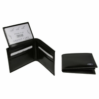 YT-48 Yacht Black Leather Wallet