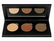 Pressed Organic Eyeshadow Trio in Choice of Colors