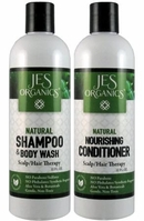 Gentle Aloe Jojoba Hair & Body Wash with Chamomile & Rosehip - & Nourishing Conditioner Scalp/Hair Therapy