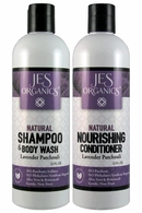 Gentle Aloe Jojoba Shampoo/Body Wash & Nourishing Conditioner - Lavender Patchouli