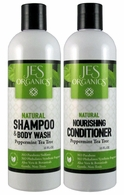 Gentle Aloe Jojoba Shampoo/Body Wash & Nourishing Conditioner - Peppermint Tea Tree