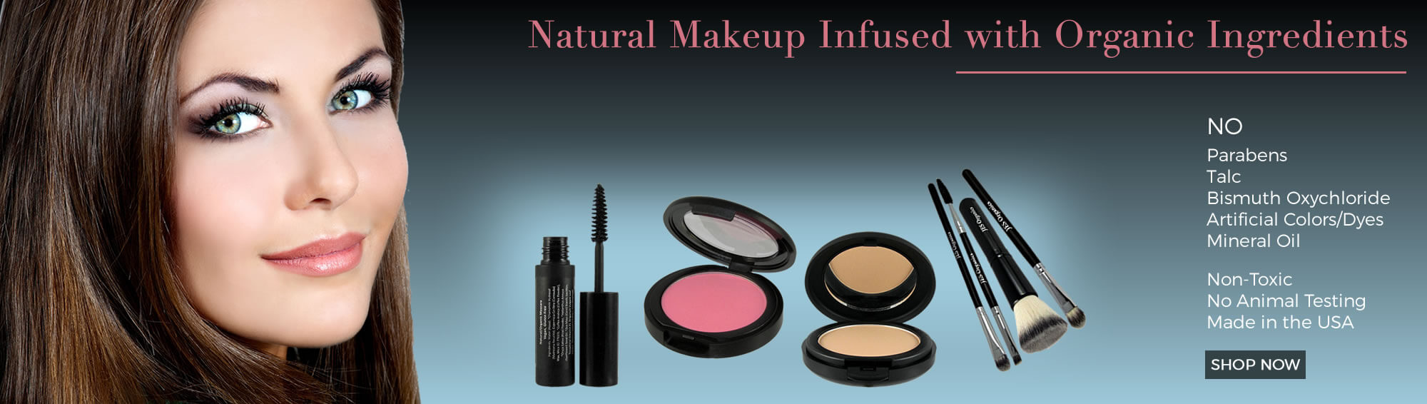 Natural makeup infused with organic ingredients