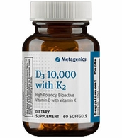 Metagenics D3 10,000 with K2 (High Potency, Bioactive Vitamin D with Vitamin K)