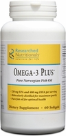 Omega-3 Plus�-double strength pure soft gels Researched Nutritionals