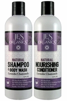 Gentle Aloe Jojoba Shampoo/Body Wash & Nourishing Conditioner - Lavender Chamomile