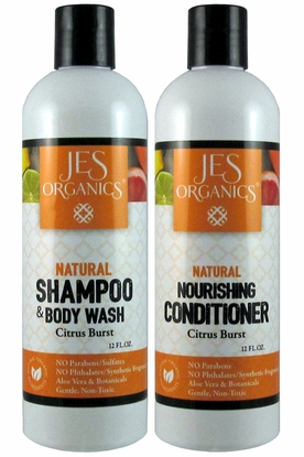 Gentle Aloe Shampoo/Body Wash & Nourishing Conditioner - Citrus Burst