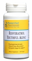 Resveratrol Youthful Aging Researched Nutritionals