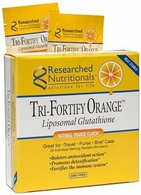 Tri-Fortify Orange 20 Pack Liposomal Glutathione Researched Nutritionals