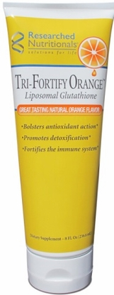 Tri-Fortify Liposomal glutathione & Vitamin C (Orange) Researched Nutritionals
