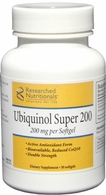 Ubiquinol Super 200 CoQ10 for Enhanced Absorption Researched Nutritionals - GMO-free