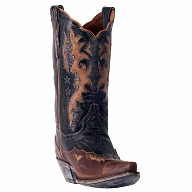 Dan Post Boots Amelia Cowgirl Boot DP3742(Women's) -Chocolate/Tan Leather Shop Offer Sale Pictures Collections Sale Online Buy Cheap Pick A Best Outlet Very Cheap V0ONYovmDP