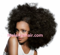 Natural Kinky Afro Remi Cuticle Human Hair Extensions