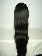 Natural Straight European Remi Human Hair Lace Wig 30""