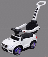 Car baby toy on car with push bar and rock