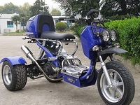 MC-TS8        3 Wheels Motorcycle 150cc Trike Gas Moped Scooters