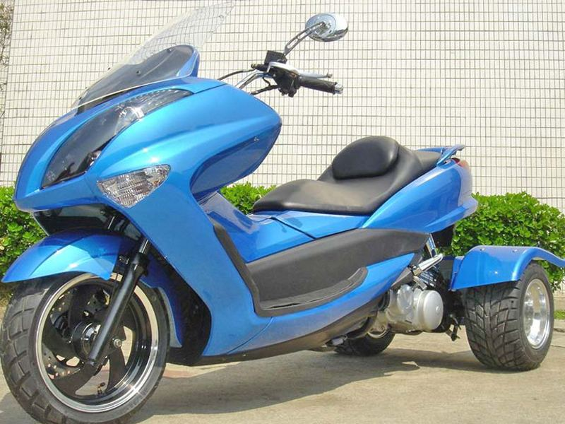 pst150 11 trike moped motor bike 150cc touring gas motor scooters. Black Bedroom Furniture Sets. Home Design Ideas