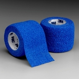 "3M Blue Coban Self-Adherent Wrap, 1""x 5 yds, Pack of 5"
