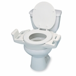Ableware 725600050 Elevated Push-Up Toilet Seat with Armrests-Standard