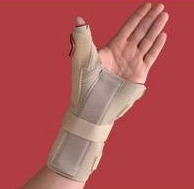 Carpal Tunnel Brace with Thumb Spica  Right  Beige  Medium