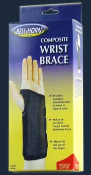 Composite Wrist Brace  Right Large  Wrist Circum: 7« - 8«
