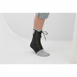 Core 6300 Lace Up Ankle Support-Black-Extra Small