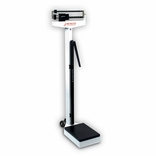 Detecto 438 Eye Level Physician Beam Scale with Height Rod and Wheels