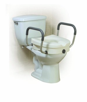 Elevated Toilet Seat with Arms 2-in-1Locking Tool-Free Retail