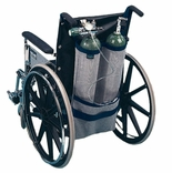 EZ-Access EZ0140BK Wheelchair Oxygen Tank Holder - Dual Tank