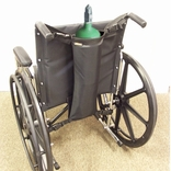 EZ-Access EZ0141BK Wheelchair Single Oxygen Tank Holder