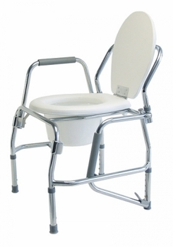 Graham Field Lumex Platinum Collection Steel Three-In-One Padded Drop Arm Commode