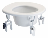 Graham Field Lumex Versa Height Raised Toilet Seat, 2 Rear Locking Brackets