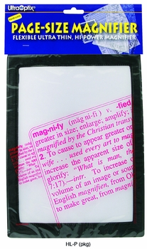 Magnifier Full Page Reading Fresnel 7 x10  with Border
