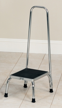 PMI Step Stool with 35 in. Waist High Handle Rail