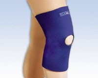 Safe-T-Sport Thermal Neoprene Knee Sleeve, Open Patella, SM, Navy