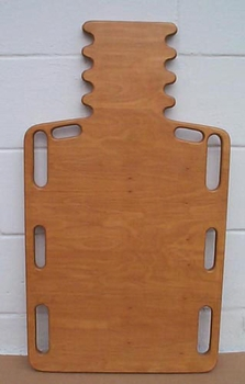 Wood Short Spine Backboard with Pinned Hole  32  L  x 16  W