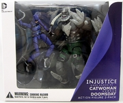 DC Injustice Gods Among Us Catwoman vs Doomsday Figure Set