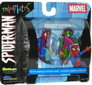 Marvel Minimates Spider-Man Peter Parker and Classic Green Goblin Set