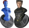 Marvel X-Men Movie Wolverine and Mystique Mini Bust Set