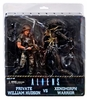 NECA Aliens Private Hudson vs Xenomorph Warrior 2 Pack Figure Set