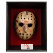 NECA Friday the 13th Jason Mask in Shadowbox Prop Replica