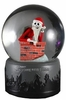 Nightmare Before Christmas Chimney Santa Jack Water Globe
