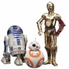 Star Wars ARTFX+ R2-D2, C-3PO, & BB-8 Statue 3-Pack