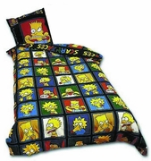 The Simpsons Faces Bedspread