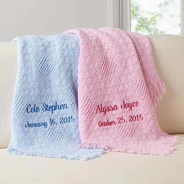 100 cotton baby blanket personalized