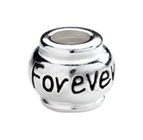 "10mm Kera™ Sterling Silver ""Forever"" Expression Bead"