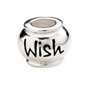 "10mm Kera™ Sterling Silver ""Wish"" Expression Bead"