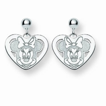 14k Gold Disney Minnie Mouse Post Dangle Earrings